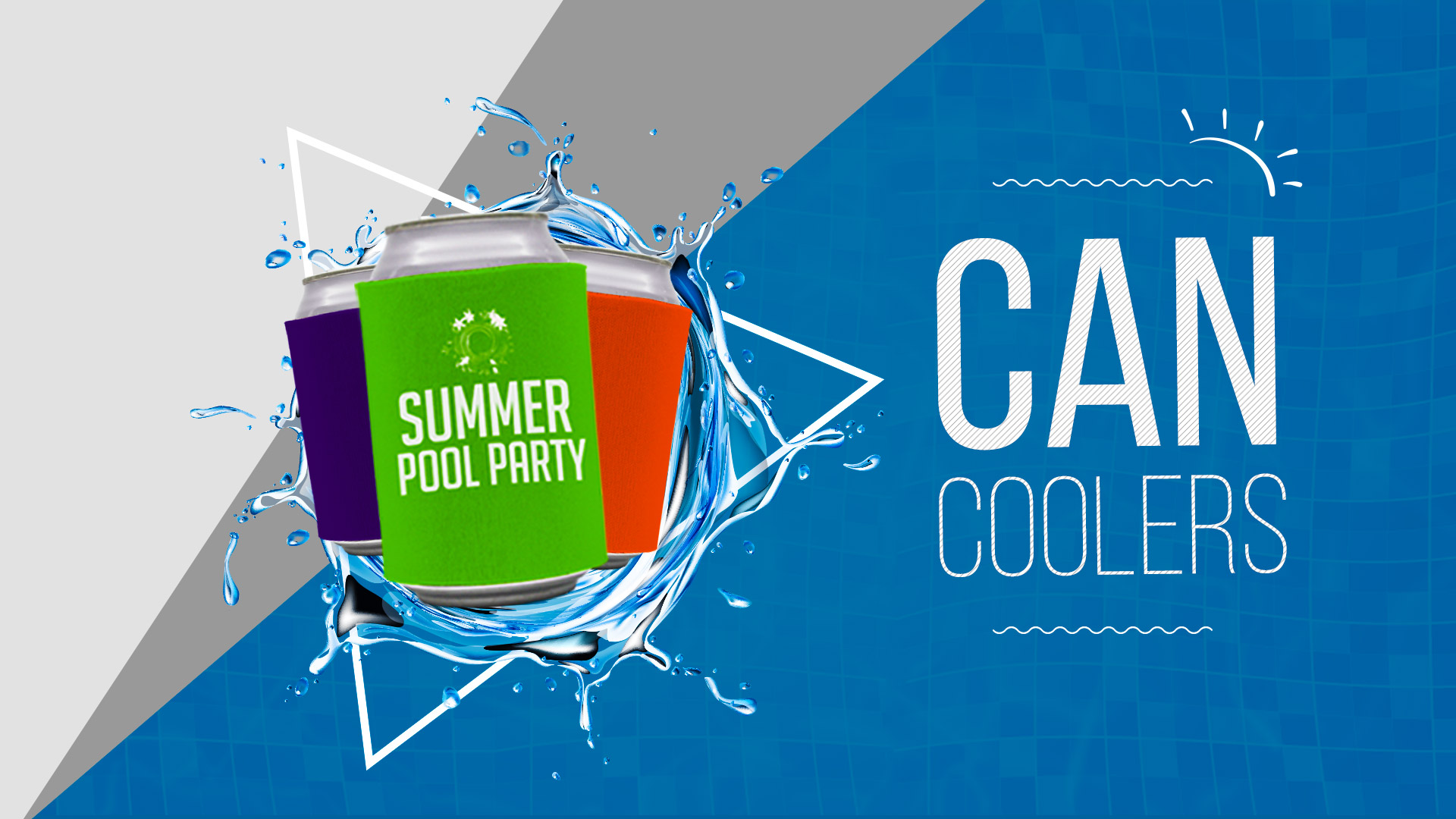 Pool_Party Can Coolers - 24HourWristbands.com