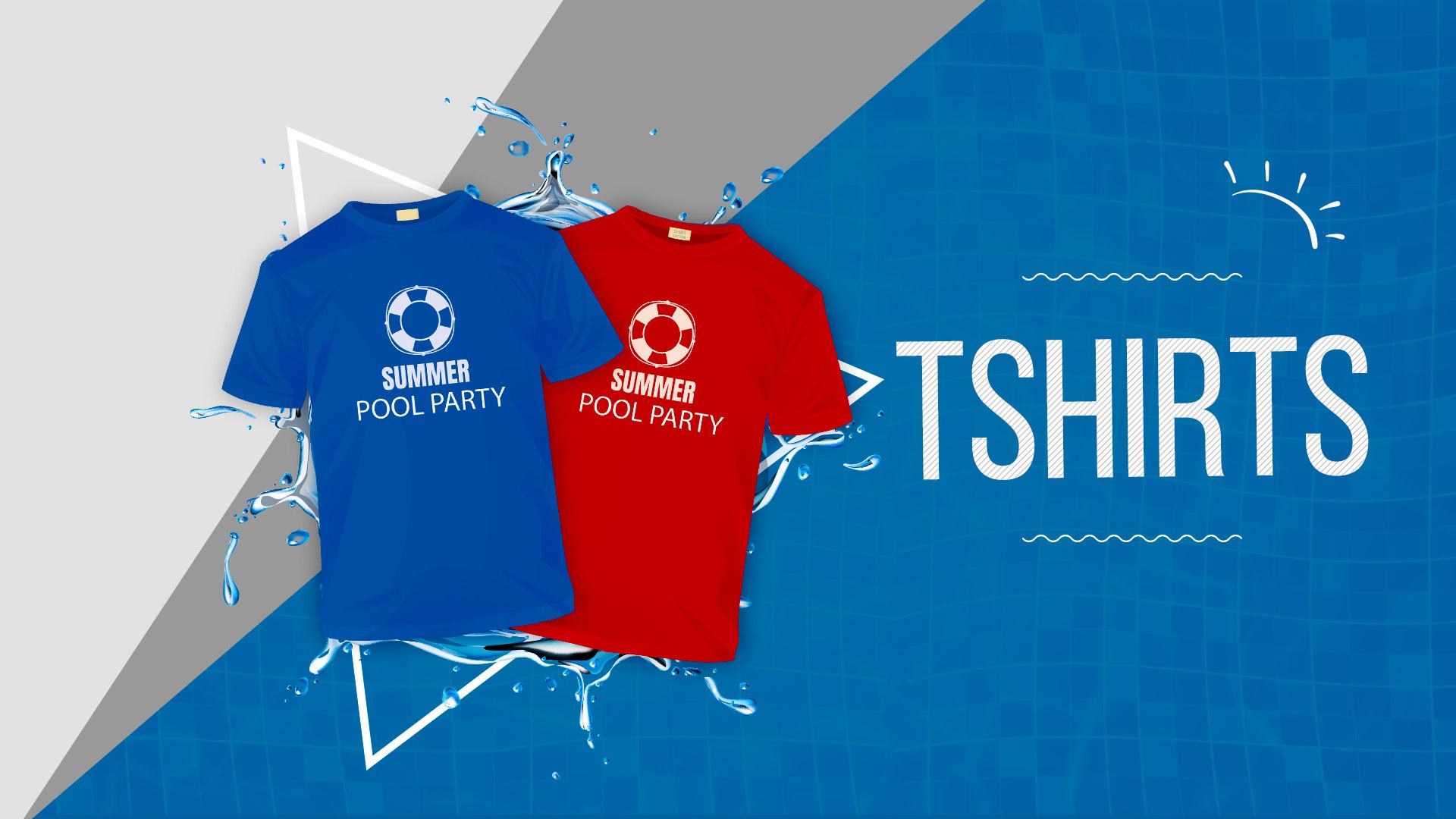 Pool_Party TShirts - 24HourWristbands.com