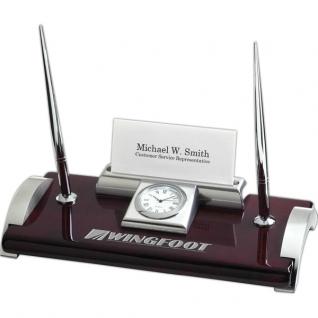 Ambassador Clock Desk Set