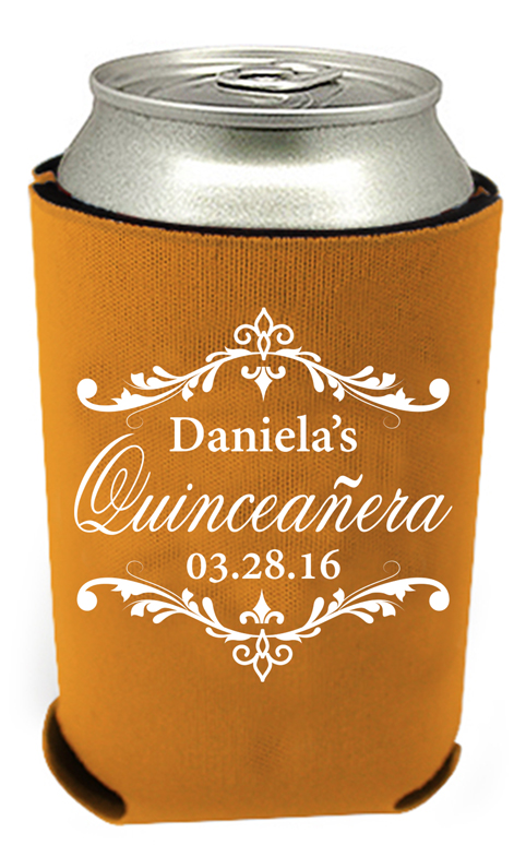 quinceanera koozie 10 celebration can coolers 24hourwristbands com