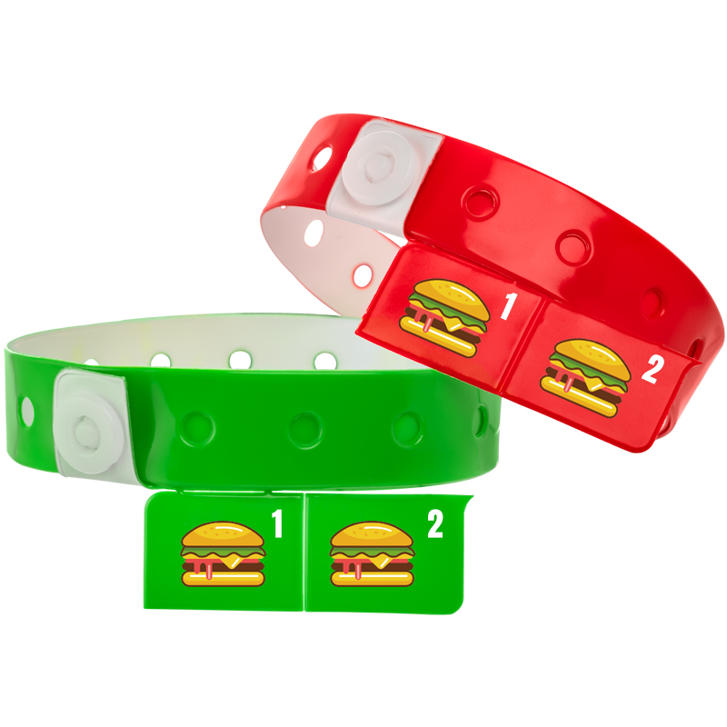 2-Tab Vinyl Wristbands | Custom Vinyl Wristbands - 24HourWristbands Com