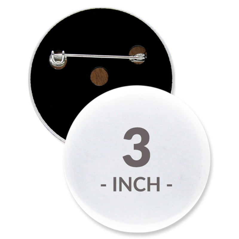 3 Inch Round Custom Buttons