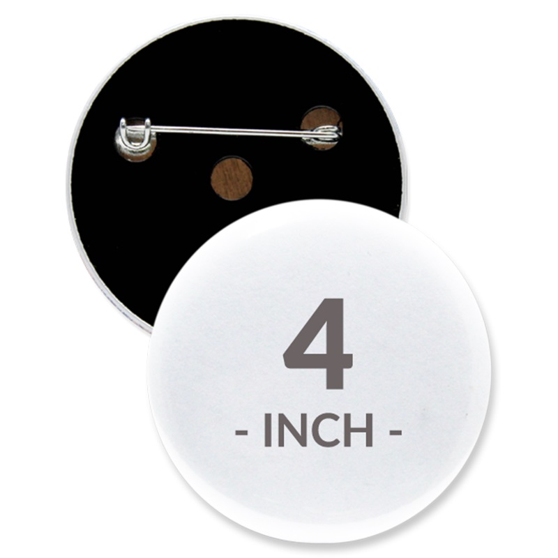 4 Inch Round Custom Buttons
