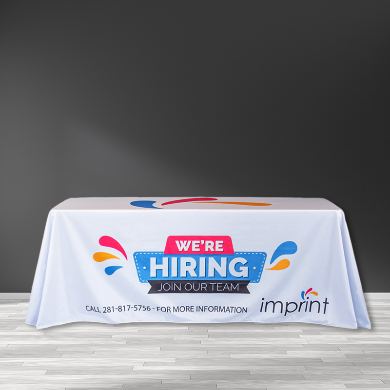 8FT Trade Show Table Cover - All Over Imprint