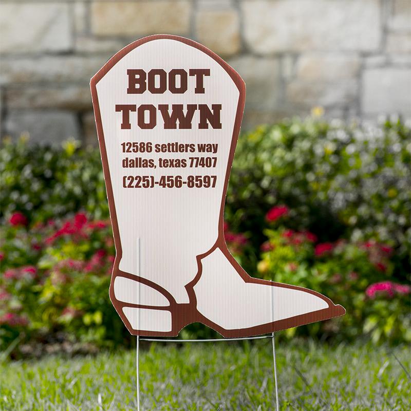 Boot Yard Signs