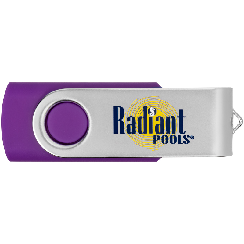 Custom Rotate Swivel USB Flash Drives