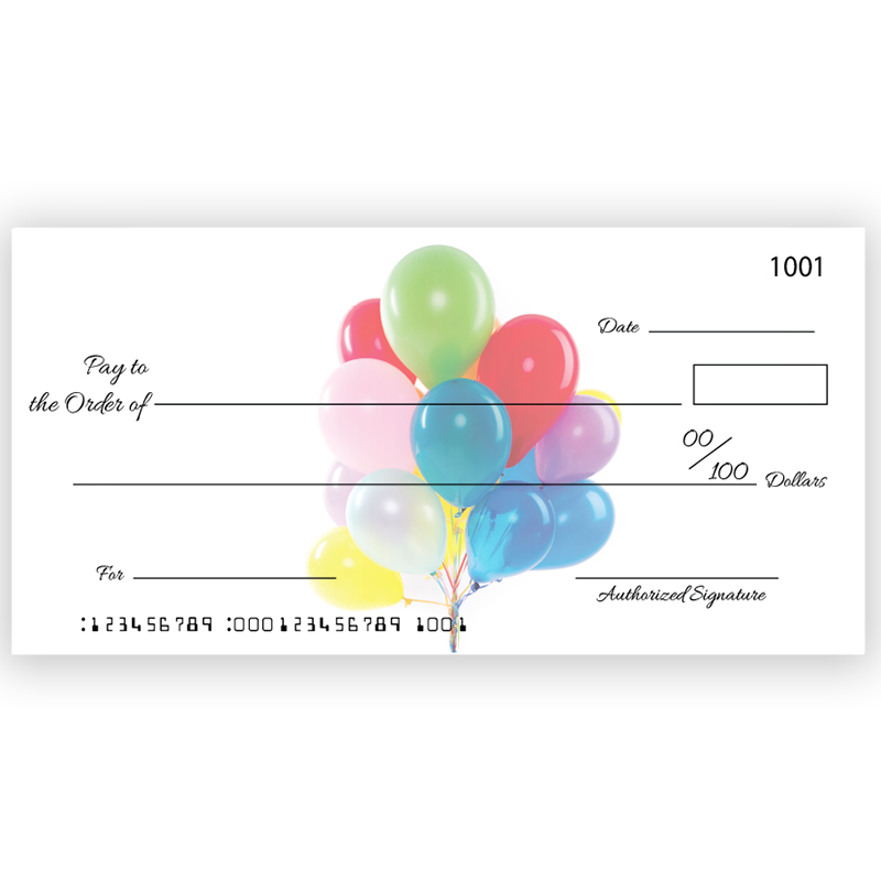Custom Birthday Big Checks
