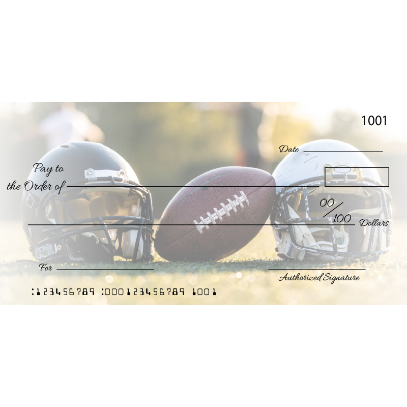 Custom Football Helmet Big Checks