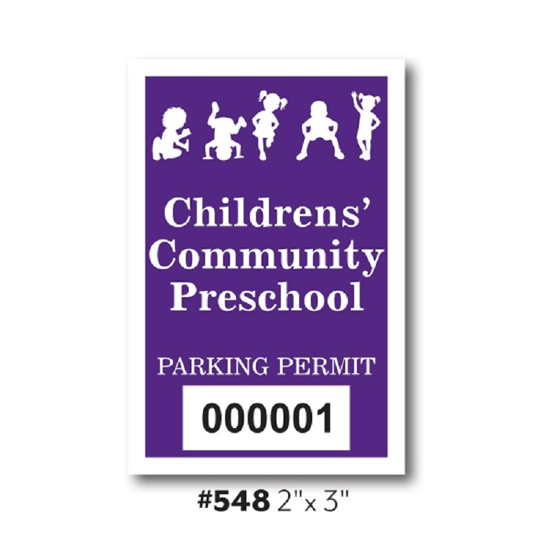 Custom Inside Application Parking Stickers - 2
