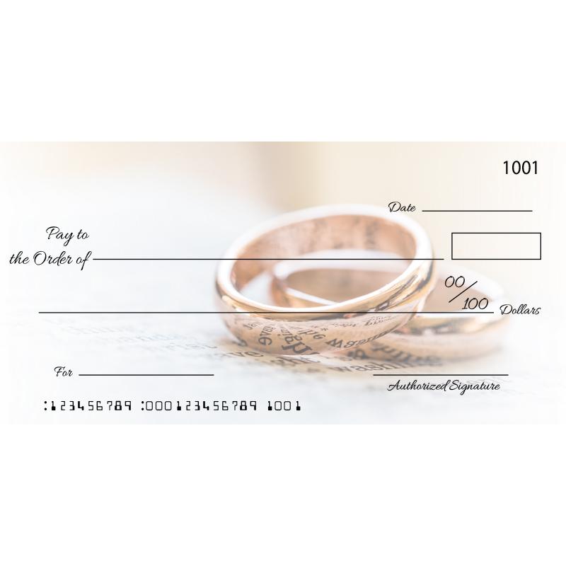 Custom Wedding Ring Big Checks