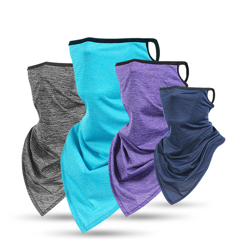 Ear Hanging Ice Silk Face Covering Neck Gaiters