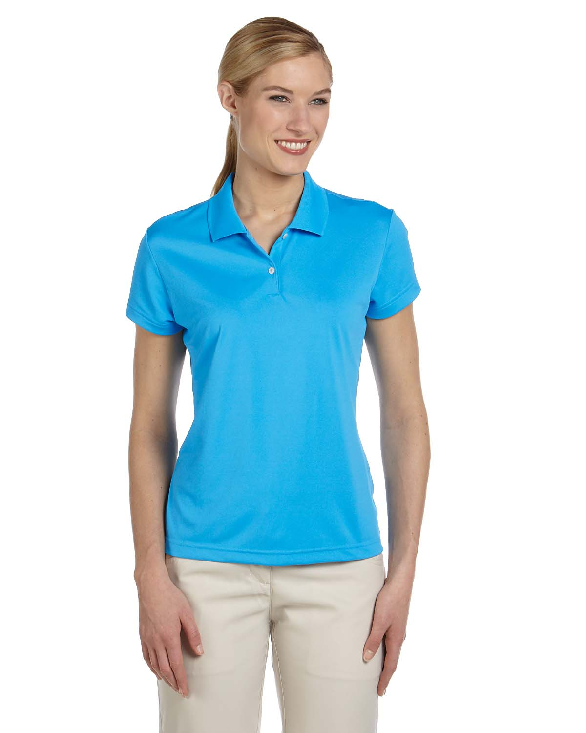 Adidas Golf Ladies Climalite® Short-Sleeve Pique Polo