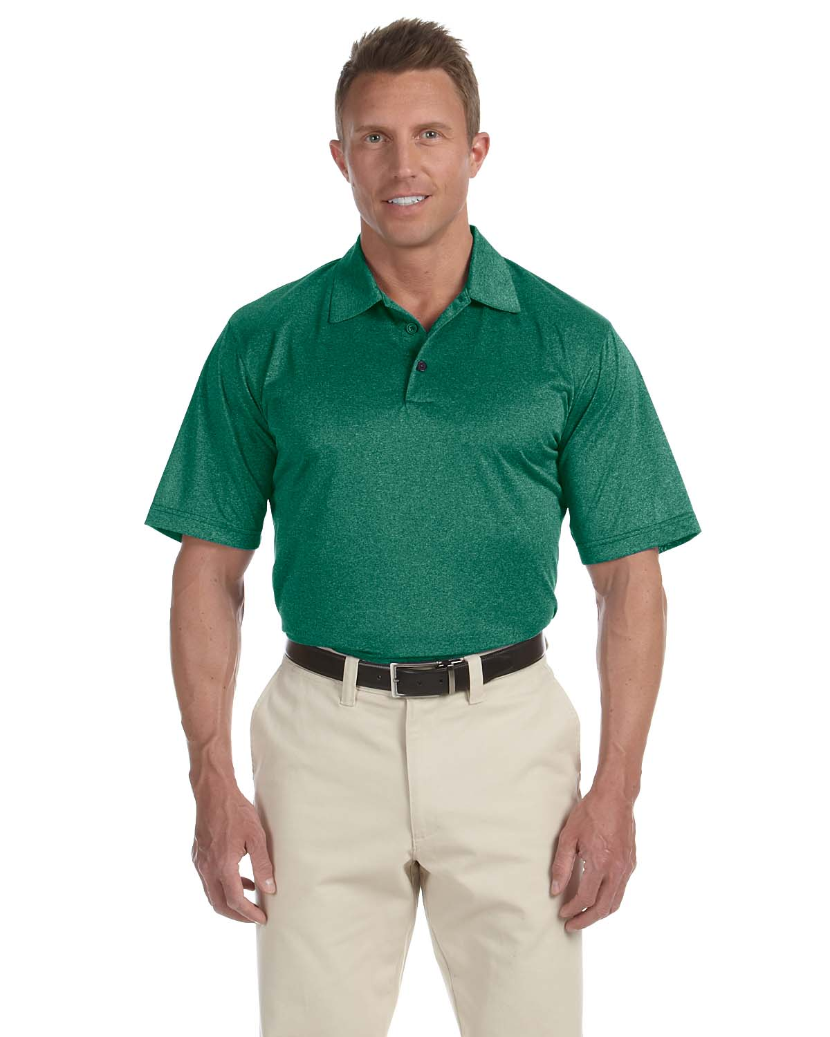 Adidas Golf Mens Climalite® Heather Polo