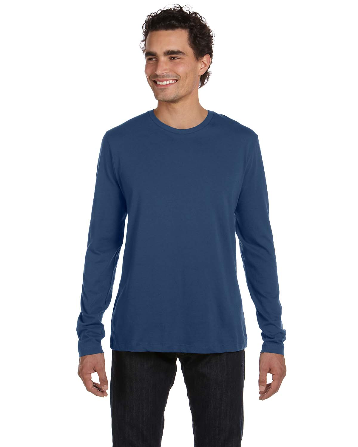 Alternative Mens Long-Sleeve Basic Crew