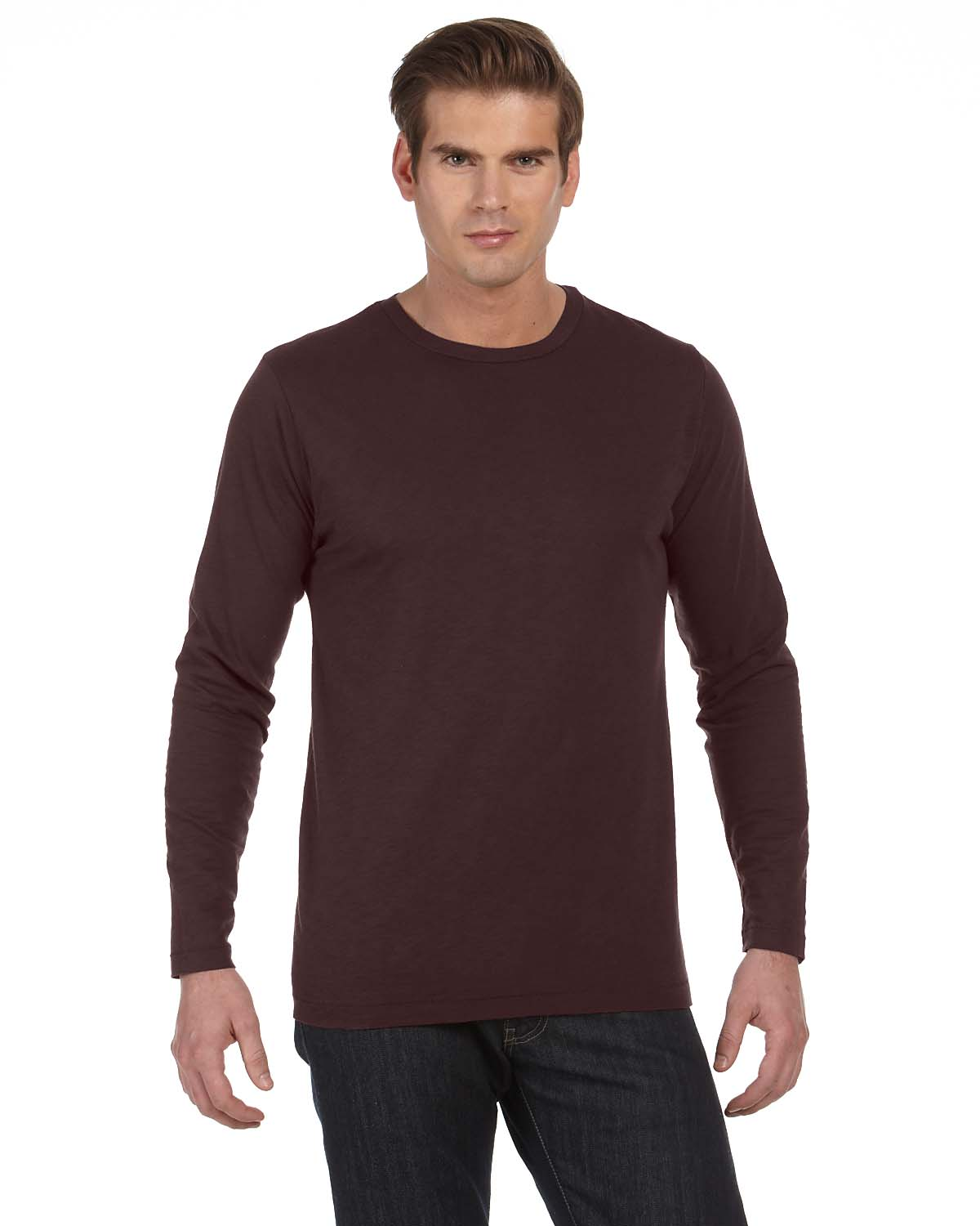 Alternative Mens Joey Slub Long-Sleeve Crew