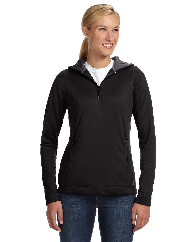 Russell Athletic Ladies Tech Fleece Quarter-Zip Pullover Hood