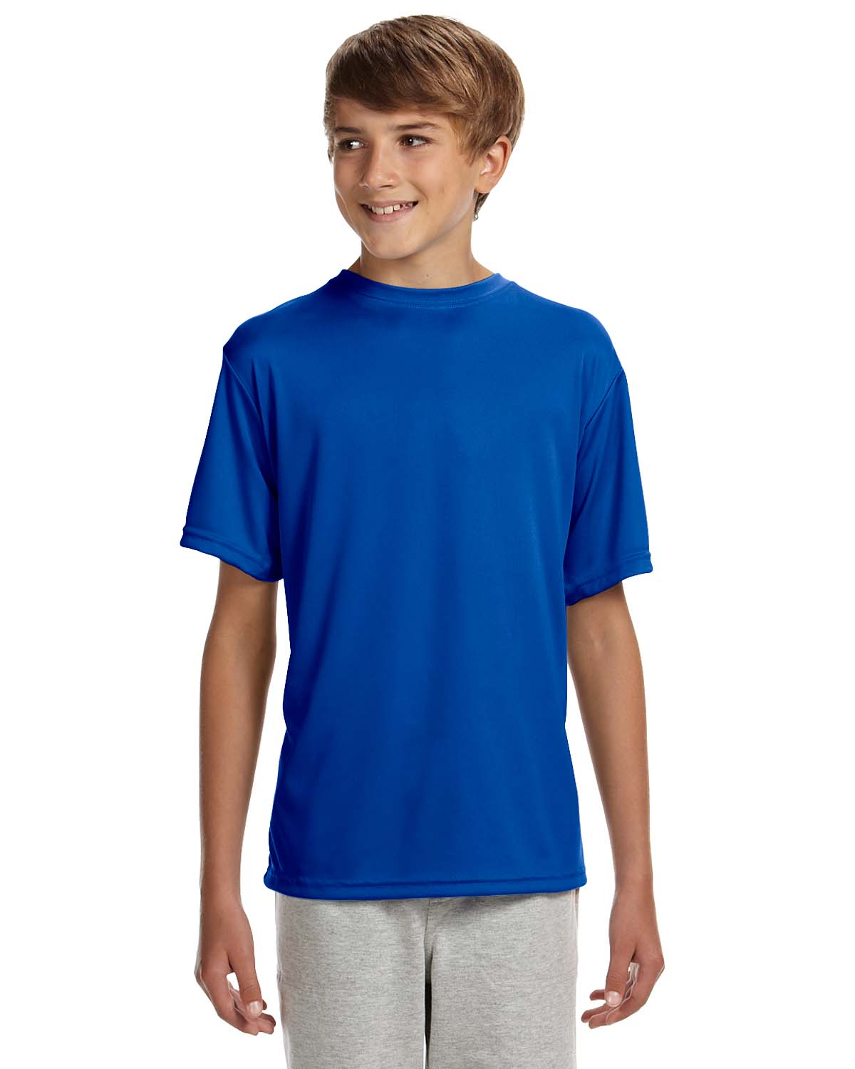 A4 Youth Short-Sleeve Cooling Performance Crew