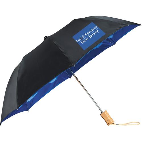 Blue Skies Auto Folding Umbrella
