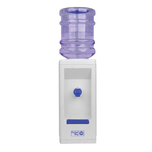 Desktop beverage dispenser with cup holder
