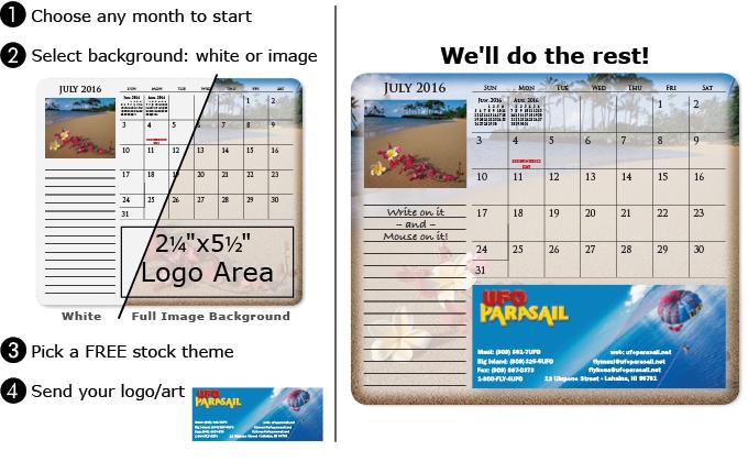MousePaper 12-Months Calendar Mouse Pad