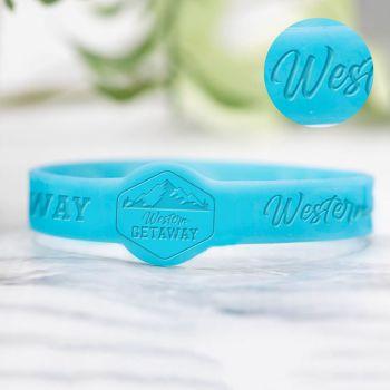 1/2 Inch Debossed Figured Wristbands