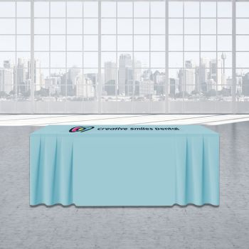 6FT Skirt Trade Show Table Cover - Full Color Imprint