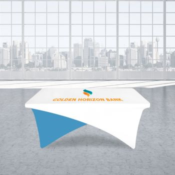 8FT Cross Over Trade Show Table Cover - Full Color Imprint
