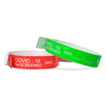 COVID-19 Pre-Screened Vinyl Wristbands