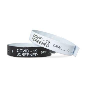 COVID-19 Screened Vinyl Wristbands