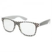 Checkered Wayfarer Style Sunglasses