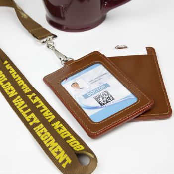 Custom Lanyards with PU Card Holders