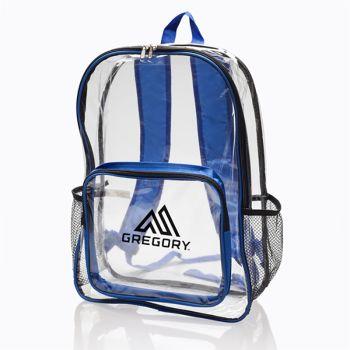 Custom Pocket Clear Plastic Backpacks