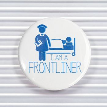 Frontliner Social Distancing Pin Buttons