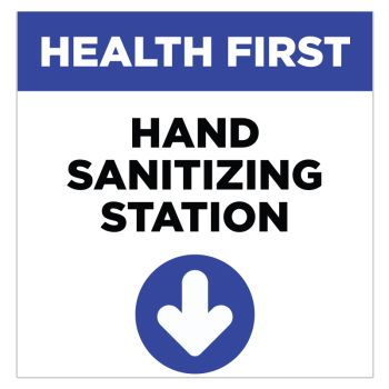 Hand Sanitizing Station Stickers