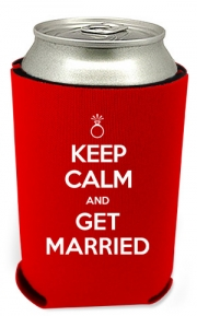 Keep Calm Wedding Can Coolers