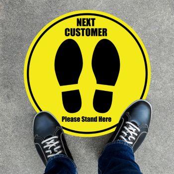 Next Customer Round Floor Stickers