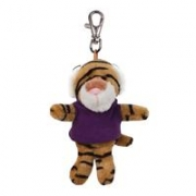 Plush Wild Bunch Key Tags-Tiger