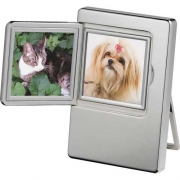 Radiance Silver Plated Double Photo Frame