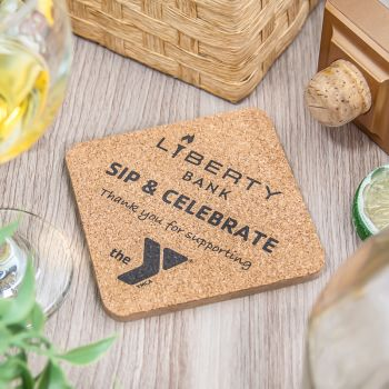 Square Cork Coaster - 3.75""