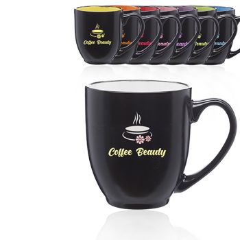 Two Tone Bistro Mugs 16oz