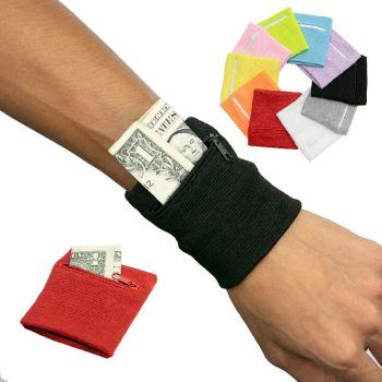 Zipper Sports Wristband Wallet Pouch