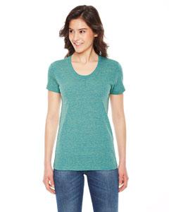 American Apparel Ladies Triblend Short-Sleeve Track T-Shirt