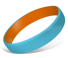 Color Coat Wristbands | Custom Silicone Wristbands