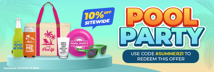Customizable Promotional Product - Pool Party