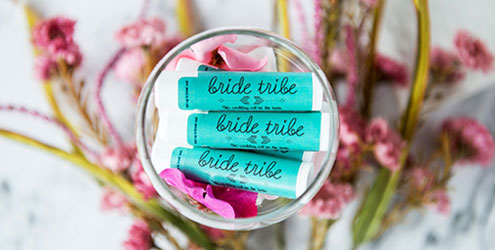 Custom Wedding Lip Balms - Wedding Favor - Custom Made Wedding Party Favors