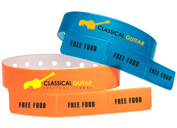 Custom 3 Tab Vinyl Wristbands