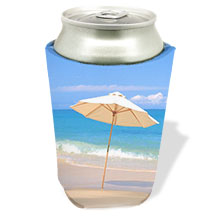 Custom Tropical Design Koozies