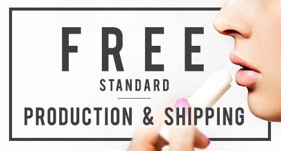 Free 24 Hour Production & Shipping on Custom Lip Balm