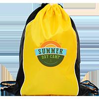 Custom Two Tone Sided Drawstring Bags