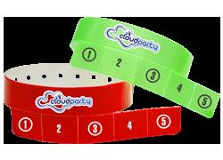 Custom 5 Tab Vinyl Wristbands